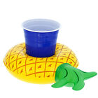6 Inflatable Floating Pineapple Drink Holders Fun Pool Swim Party Float Can Cup