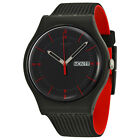 Swatch Gaet Black Dial Black Silicone Mens Watch SUOB714