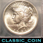 NICE 1921 SILVER PEACE DOLLAR 1 ICG AU58 FIRST YEAR SCARCE DATE FREE S H