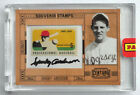 Sparky Anderson 2010 Panini Century Six Cent Stamp Autograph 4 25 Detroit Tigers