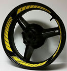 DARK YELLOW CUSTOM INNER RIM DECALS WHEEL STICKERS STRIPES TAPE GRAPHICS VINYL