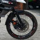 REFLECTIVE MOTORCYCLE RIM DECALS WHEEL STICKERS STRIPES TAPE TRIUMPH TIGER XCx