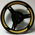 SOLAR DARK YELLOW CUSTOM INNER RIM DECALS WHEEL STICKERS STRIPES TAPE GRAPHICS