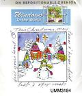 New ART IMPRESSIONS RUBBER STAMP CHRISTMAS VILLAGE Windows to the world cling