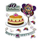 Jolees 3D Scrapbooking Crafts Stickers 40th Birthday