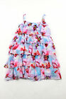 Love Made Love Girls Multicolored Floral Sleeveless Tiered Dress Size 10