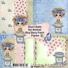 NEW My Besties SCRAPBOOK PAPER PACK SET 6 X 6 free us ship BLUE BERRY PATCH