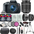 Canon EOS Rebel T5i SLR Camera 700D + 18 55mm IS 3 Lens Kit + 64GB + More