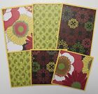 Premade SEWN Scrapbook Page Mat Set ALL OCCASION LOT 1 6 pieces