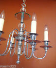 Vintage Lighting antique 1930s chrome glass chandelier   Dashing Extraordinary