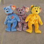 3 Ty Beanie Baby Bears  America USA Victory Olympics 2004 w/ all tags mint