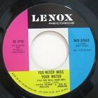 Little Esther Big Al Downing You Never Miss Your Water Rare RB Soul 45 VG++HEAR
