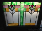 Beautiful Art Deco Stained Leaded Glass Window from Chicago 28
