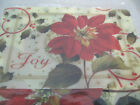 Pamela Gladding Poinsettia Placemat & Cutting Mat Set Made in USA