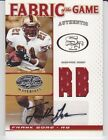 FRANK GORE 2007 Leaf Fabric of the Game FOTG Jersey Auto 10 San Francisco 49ers