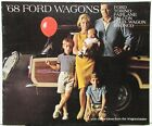 1968 Ford Wagon Sales Brochure FullSize Torino Fairlane Falcon Club Wagon Bronco