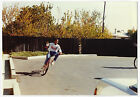 Vintage 80s PHOTO Young Black African American Boy Riding His Bike Bicycle
