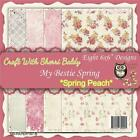 NEW My Besties SCRAPBOOK CARD PAPER PACK SET 6 X 6 SPRING PEACH free us ship
