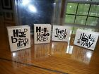 2006 Alphabet Soup Stamp Set Stampin Up Wood Blocks Happy Birthday Thank You