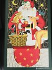 STEPHANIE STOUFFER SANTA WOOD DECORATION STARTING LIGHT NEW