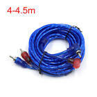 4-4.5m 2 RCA Male to Male Car Stereo Audio System Extension Cable Cord Blue