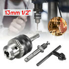 13mm 1/2'' 20 UNF Keyless Drill Chuck with SDS Shaft Adaptor And Chuck Key New
