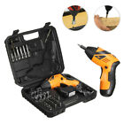 45in1 Electric Cordless Screwdriver Drill Driver Drilling Bits Set Rechargeable