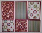 Premade SEWN Scrapbook Page Mat Set FLORAL Red Green  Blue LOT 18 6 pieces