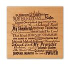 Names of God mounted rubber stamp Christian religious CMS 3