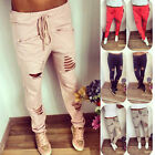 Women Girls Casual Harem Hip Hop Dance Sports Pencil Pant Hole Trousers US Stock