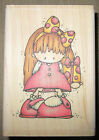 WHIPPER SNAPPER STAMP Little Girl  Dotted Present 2006