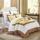 Ballroom Yellow Brown  White 7 Piece Comforter Bed In A Bag Set