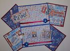 Premade 4TH OF JULY Scrapbook Page Mat Set 12 pieces