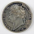 1824 Great Britain George IV One Shilling Silver AU Details Cleaned Coin A2669