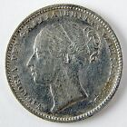 1880 Great Britain Victoria One Shilling Silver VF Details Cleaned Scratch A2672