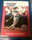 1988 Howard Johnson New York Mets Unopened Starting Lineup Baseball Card