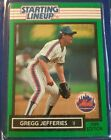 1989 Gregg Jefferies New York Mets Unopened Starting Lineup Baseball Card mint