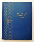 WHITMAN COIN ALBUM - FRANKLIN HALVES 1948 - / 3 PAGES ~ USED
