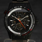 Luxury Cool Army Skeleton Top Men Sport Casual Auto Mechanical Wrist Watch A2