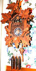 Quality Hand Carved Traditional German Cuckoo Clock w Dancers RUNS GREAT