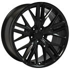20 Black ZL1 Style Wheels Fits Chevy Camaro 2010 2016 Non SS Set of 4