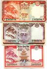 NEPAL 5 10 20 RUPEES ND(2010) P-61b,62,69 UNC SET 3 PCS