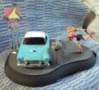 FRANKLIN MINT 1955 THUNDERBIRD DRIVE IN DINER METAL MECHANICAL COIN BANK