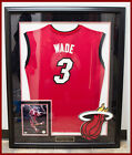 Authentic Miami Heat Dwayne Wade Signed and Framed Jersey with COA - Rare