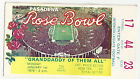 1979 Michigan Southern Cal USC Rose Bowl football ticket stub Bo Schembechler