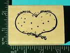 Hooks Lines Inkers HEART BLURB Rubber Stamp