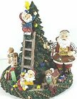 Fitz and Floyd Santa's Helper Christmas Tree Musical Plays Toyland