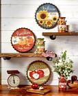 DECORATIVE COUNTRY ACCENT VINTAGE LOOK METAL WALL TABLE TOP KITCHEN HOME DECOR