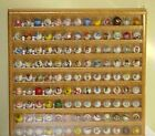 OAK MARBLE DISPLAY CASE HOLDS 117 LOGO 1 INCH