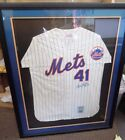 Tom Seaver Autographed New York Mets home throwback Jersey Signed in blue ink